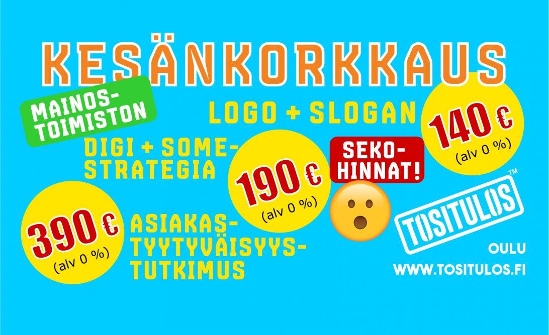 Kesänkorkkaus-kampanja 2018, mainostoimisto, Tositulos Oulu
