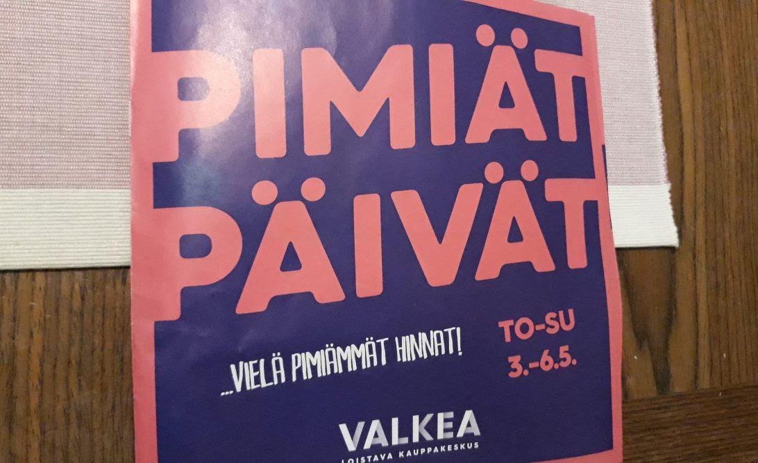 Pimiät päivät Valkea Oulu